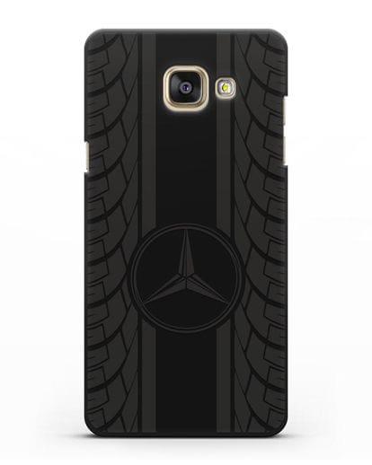Чехол с логотипом Мерседес Бенц силикон черный для Samsung Galaxy A7 2016 [SM-A710F]
