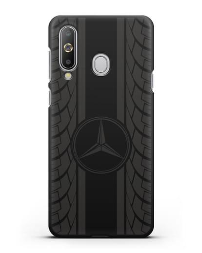 Чехол с логотипом Мерседес Бенц силикон черный для Samsung Galaxy A8s [SM-G8870]