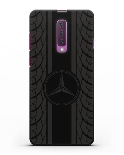 Чехол с логотипом Мерседес Бенц силикон черный для Samsung Galaxy A90 [SM-A908N]