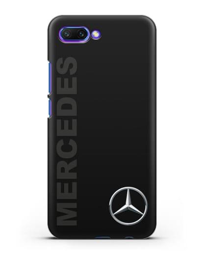 Чехол с надписью Mercedes и логотипом силикон черный для Honor 10