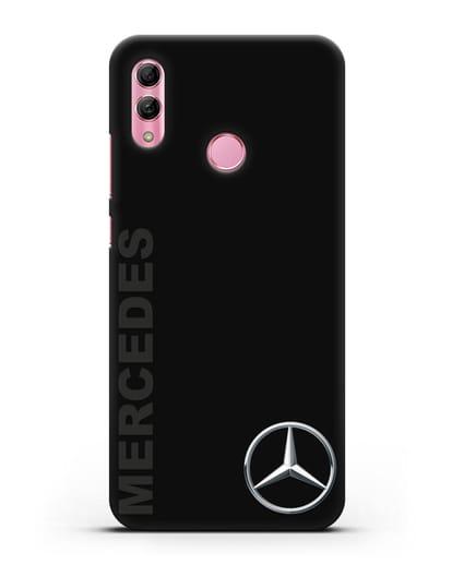 Чехол с надписью Mercedes и логотипом силикон черный для Honor 10 Lite