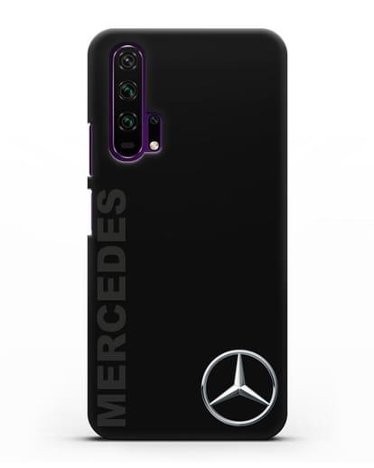 Чехол с надписью Mercedes и логотипом силикон черный для Honor 20 Pro