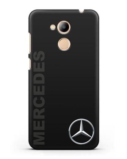 Чехол с надписью Mercedes и логотипом силикон черный для Honor 6C Pro