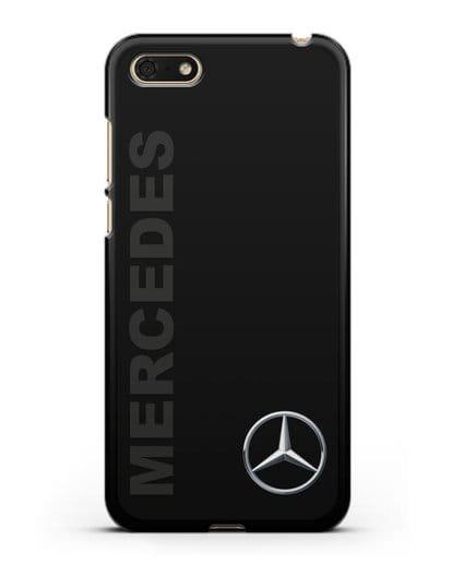 Чехол с надписью Mercedes и логотипом силикон черный для Honor 7А