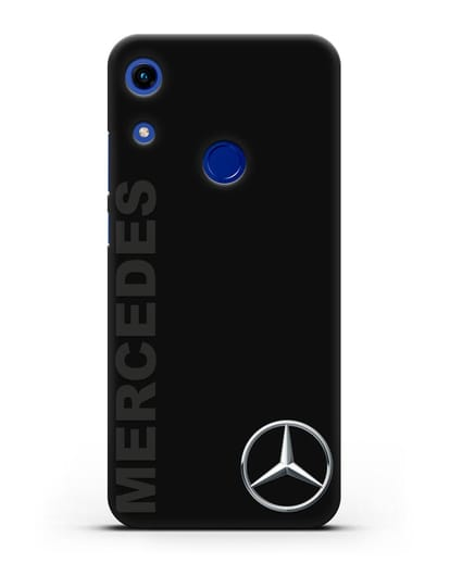 Чехол с надписью Mercedes и логотипом силикон черный для Honor 8A