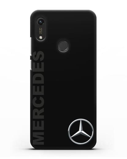 Чехол с надписью Mercedes и логотипом силикон черный для Honor 8A Prime