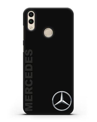 Чехол с надписью Mercedes и логотипом силикон черный для Honor 8C