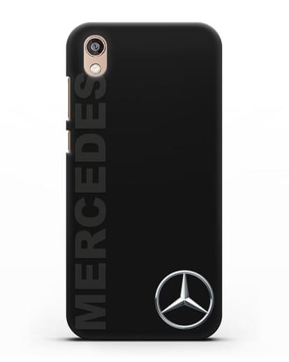 Чехол с надписью Mercedes и логотипом силикон черный для Honor 8S Prime