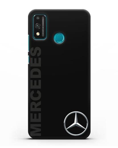 Чехол с надписью Mercedes и логотипом силикон черный для Honor 9X lite
