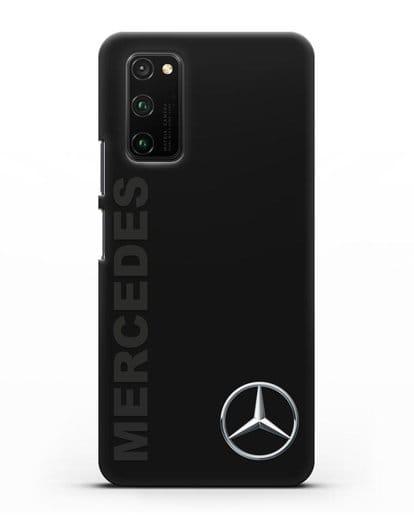 Чехол с надписью Mercedes и логотипом силикон черный для Honor View 30 Pro