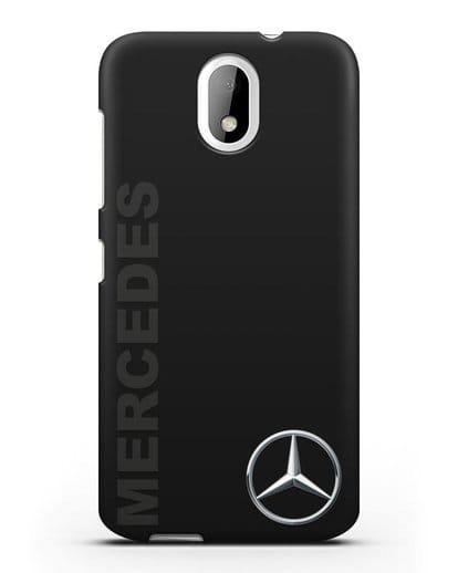 Чехол с надписью Mercedes и логотипом силикон черный для HTC Desire 526