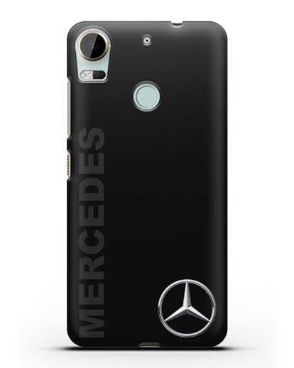 Чехол с надписью Mercedes и логотипом силикон черный для HTC Desire 10 Pro