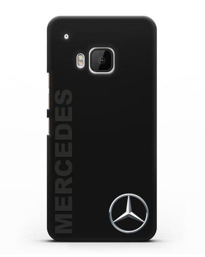 Чехол с надписью Mercedes и логотипом силикон черный для HTC One M9