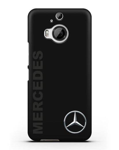 Чехол с надписью Mercedes и логотипом силикон черный для HTC One M9 Plus
