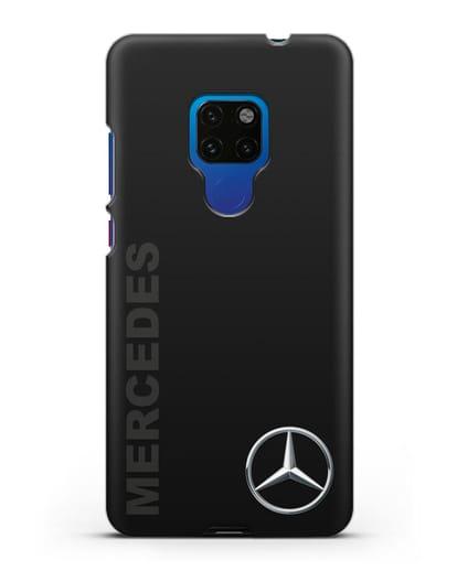 Чехол с надписью Mercedes и логотипом силикон черный для Huawei Mate 20