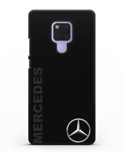 Чехол с надписью Mercedes и логотипом силикон черный для Huawei Mate 20X