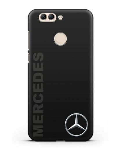 Чехол с надписью Mercedes и логотипом силикон черный для Huawei Nova 2 Plus