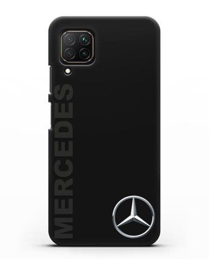 Чехол с надписью Mercedes и логотипом силикон черный для Huawei Nova 7i