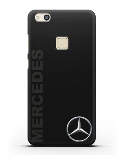 Чехол с надписью Mercedes и логотипом силикон черный для Huawei P10 Lite