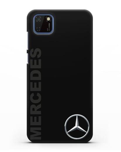 Чехол с надписью Mercedes и логотипом силикон черный для Huawei Y5P