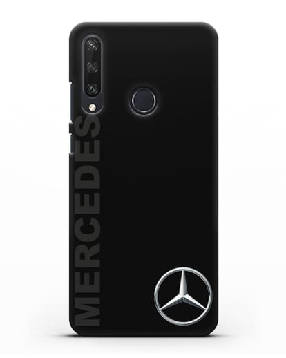 Чехол с надписью Mercedes и логотипом силикон черный для Huawei Y6P