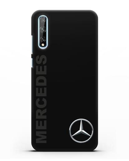 Чехол с надписью Mercedes и логотипом силикон черный для Huawei Y8P