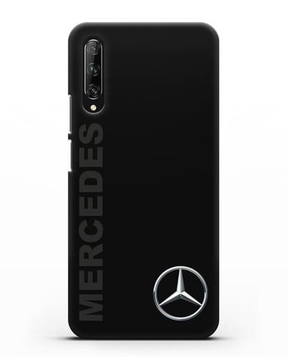 Чехол с надписью Mercedes и логотипом силикон черный для Huawei Y9s