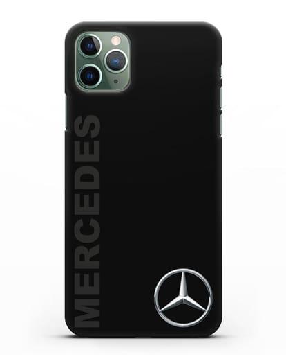 Чехол с надписью Mercedes и логотипом силикон черный для iPhone 11 Pro
