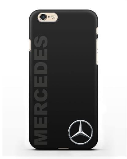 Чехол с надписью Mercedes и логотипом силикон черный для iPhone 6s