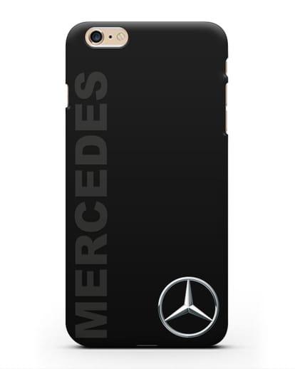 Чехол с надписью Mercedes и логотипом силикон черный для iPhone 6 Plus