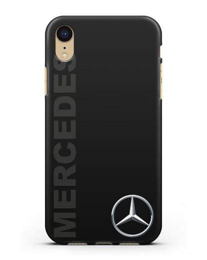 Чехол с надписью Mercedes и логотипом силикон черный для iPhone XR
