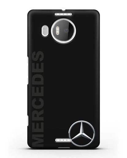 Чехол с надписью Mercedes и логотипом силикон черный для Microsoft Lumia 950 XL
