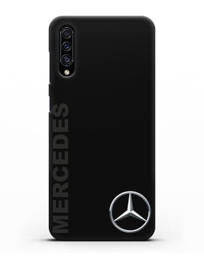 Чехол с надписью Mercedes и логотипом силикон черный для Samsung Galaxy A30s [SM-A307FN]