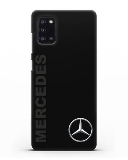 Чехол с надписью Mercedes и логотипом силикон черный для Samsung Galaxy A31 [SM-A315F]