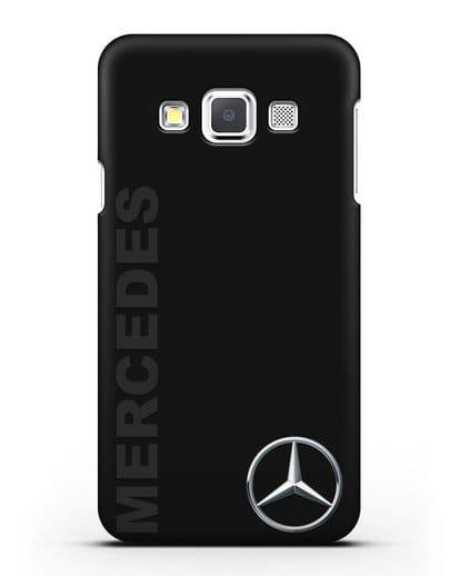 Чехол с надписью Mercedes и логотипом силикон черный для Samsung Galaxy A3 2015 [SM-A300F]