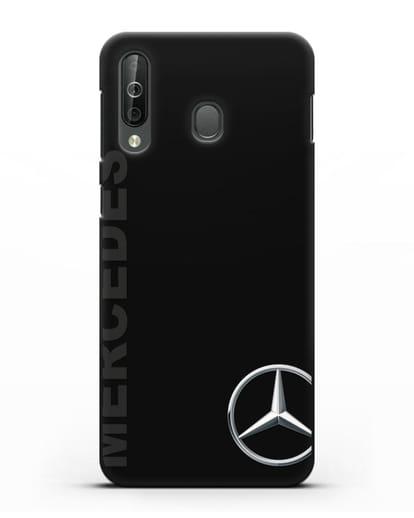 Чехол с надписью Mercedes и логотипом силикон черный для Samsung Galaxy A40s [SM-A507FN]