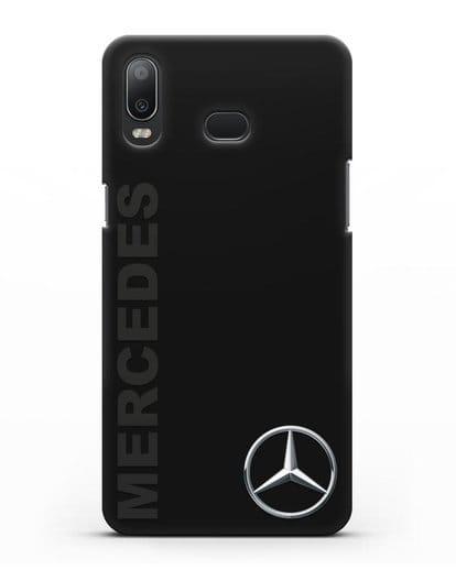 Чехол с надписью Mercedes и логотипом силикон черный для Samsung Galaxy A6s [SM-G6200]