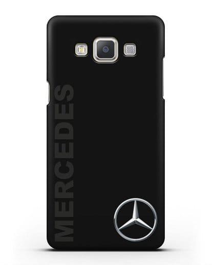 Чехол с надписью Mercedes и логотипом силикон черный для Samsung Galaxy A7 2015 [SM-A700F]