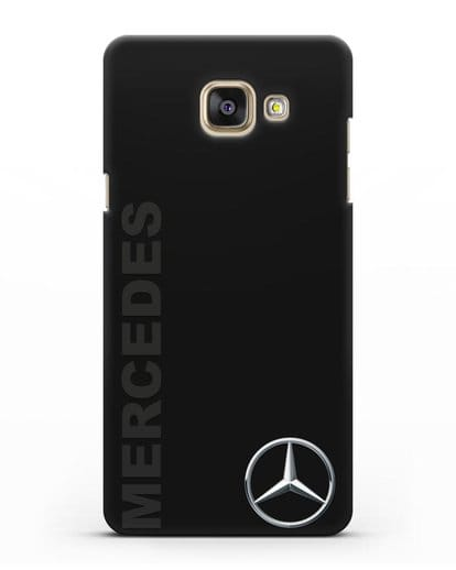 Чехол с надписью Mercedes и логотипом силикон черный для Samsung Galaxy A7 2016 [SM-A710F]
