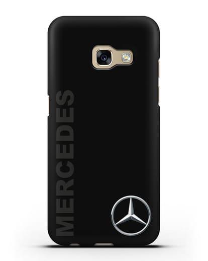 Чехол с надписью Mercedes и логотипом силикон черный для Samsung Galaxy A7 2017 [SM-A720F]