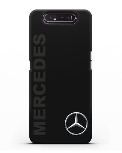 Чехол с надписью Mercedes и логотипом силикон черный для Samsung Galaxy A80 [SM-A805F]