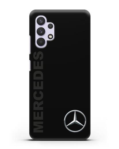 Чехол с надписью Mercedes и логотипом силикон черный для Samsung Galaxy A32 [SM-A325F]