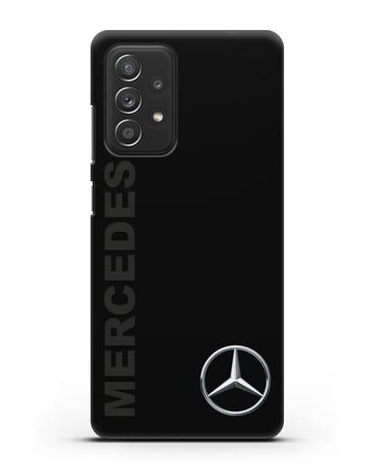 Чехол с надписью Mercedes и логотипом силикон черный для Samsung Galaxy A52 [SM-A525F]