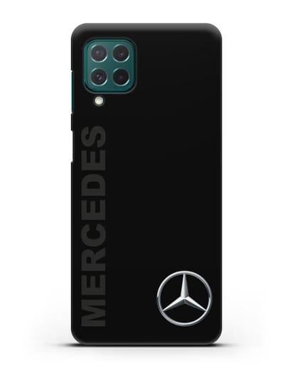 Чехол с надписью Mercedes и логотипом силикон черный для Samsung Galaxy M62 [SM-M625F]