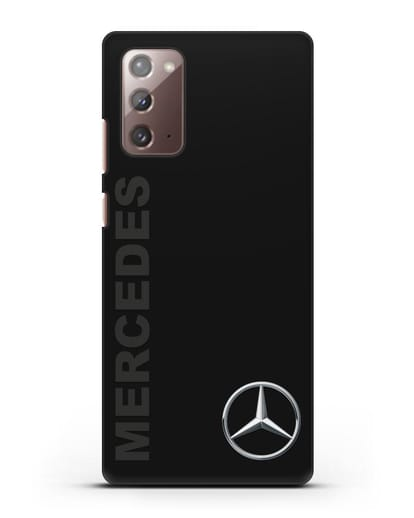 Чехол с надписью Mercedes и логотипом силикон черный для Samsung Galaxy Note 20 [SM-N980F]