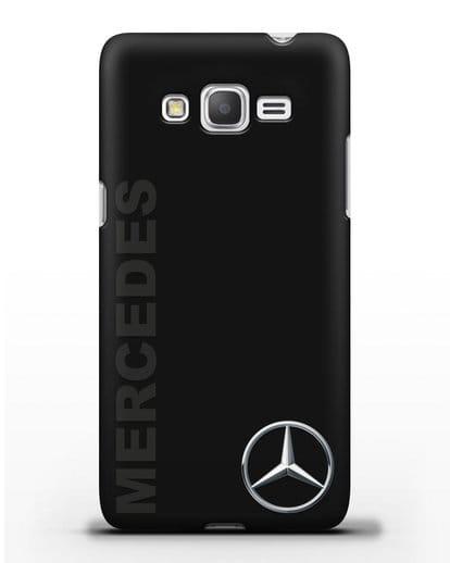 Чехол с надписью Mercedes и логотипом силикон черный для Samsung Galaxy Grand Prime [SM-G530]