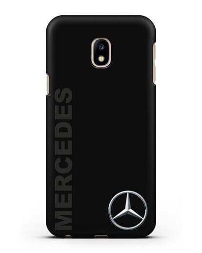 Чехол с надписью Mercedes и логотипом силикон черный для Samsung Galaxy J3 2017 [SM-J330F]