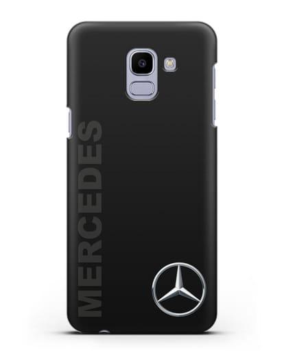 Чехол с надписью Mercedes и логотипом силикон черный для Samsung Galaxy J6 2018 [SM-J600F]