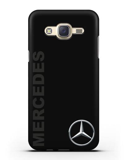 Чехол с надписью Mercedes и логотипом силикон черный для Samsung Galaxy J7 2015 [SM-J700H]