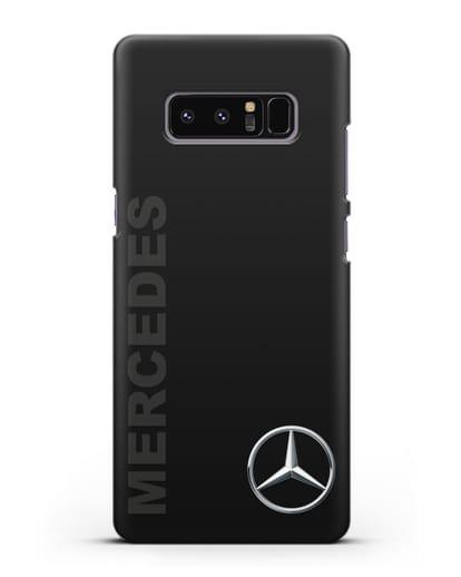 Чехол с надписью Mercedes и логотипом силикон черный для Samsung Galaxy Note 8 [N950F]